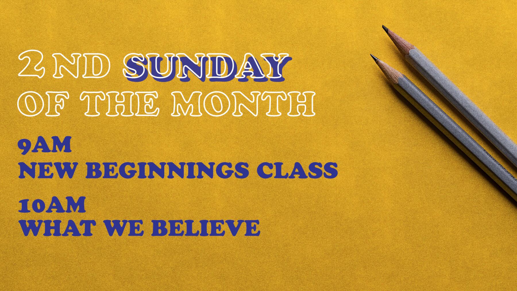 New Beginnings Class