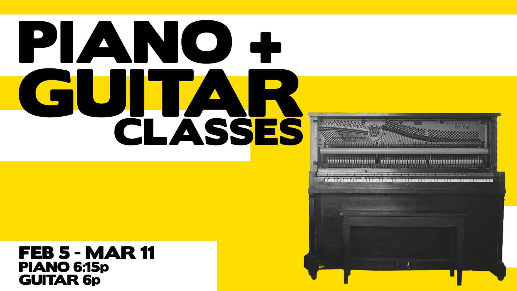 FREE PIANO + GUITAR CLASSES